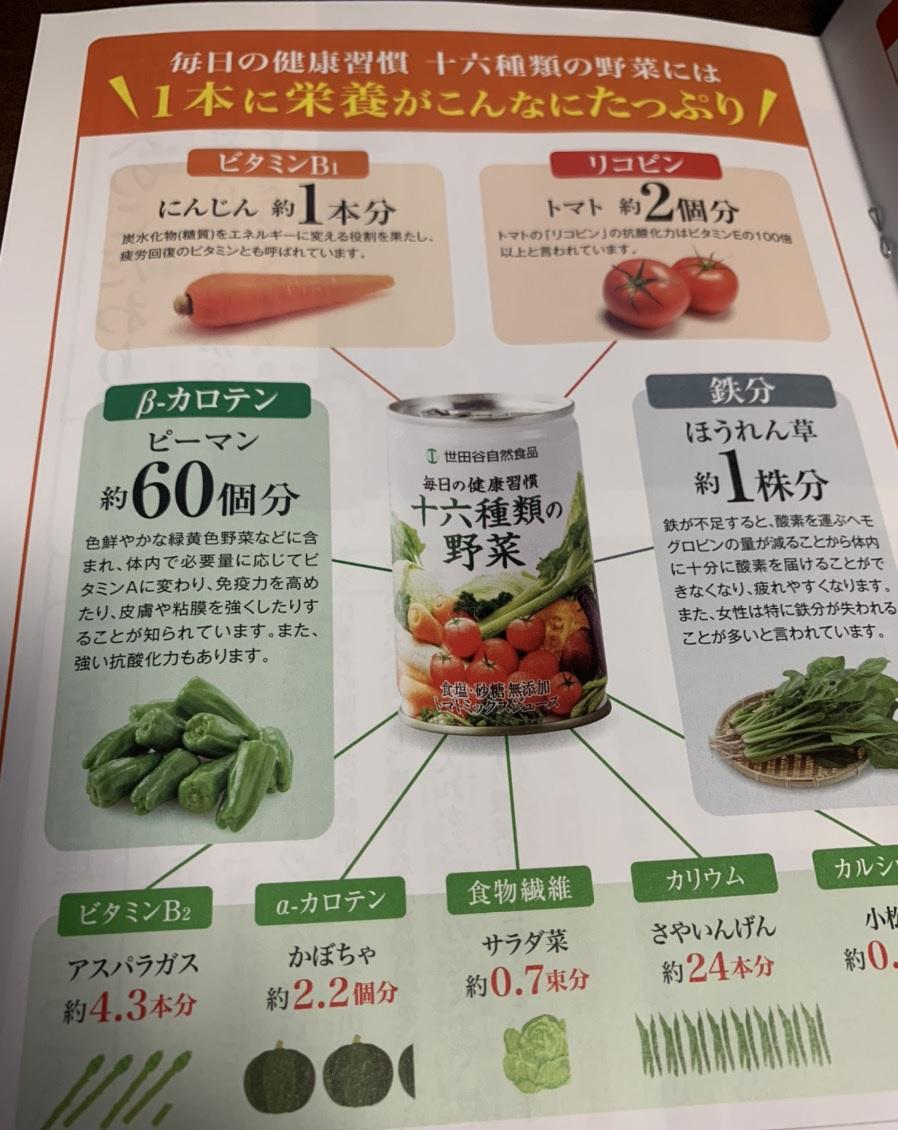 十六種類の野菜 栄養素